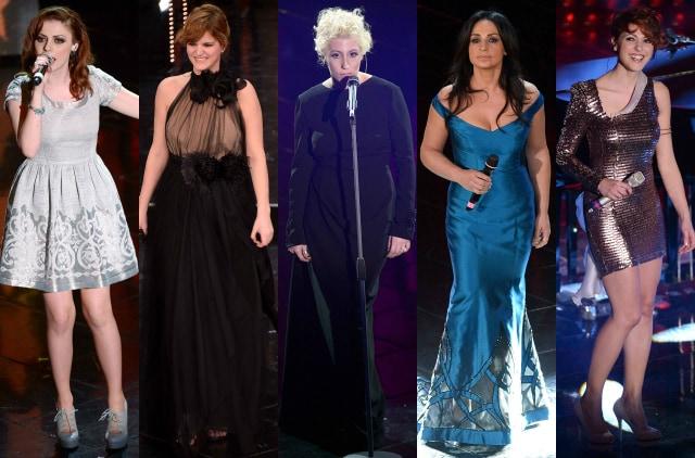 I look delle cantanti per la finale di sanremo 2013