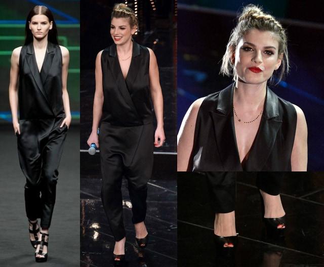 Il look di Emma marrone per la quarta serata di Sanremo 2013