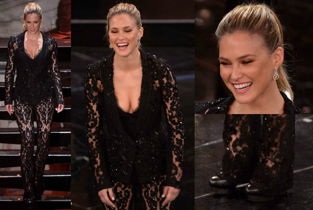 Il nudeo look di bra rafaeli hot a sanremo 2013