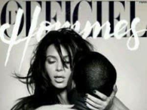 Kim Kardashian posa nuda con Kanye West su L'Officiel Hommes