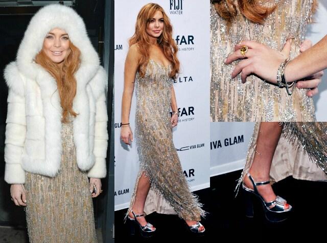 Lindsay Lohan Amfar 2013 new york
