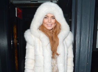 "Lindsay Lohan ""regina delle nevi"" alla Fashion Week di New York"