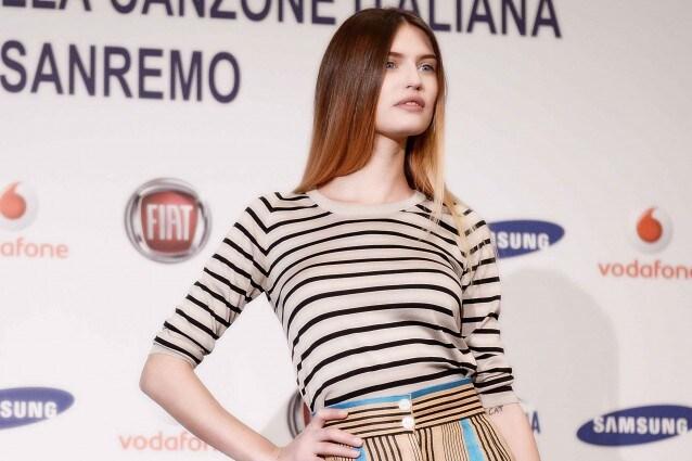 Sanremo 2013: il look di Bianca Balti alla conferenza stampa