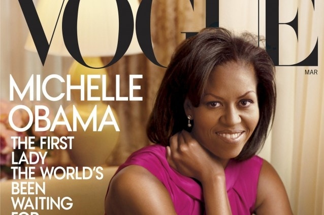 Michelle Obama sulla copertina di Vogue America