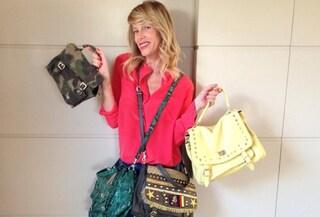 Alessia Marcuzzi presenta la sua nuova collezione di borse