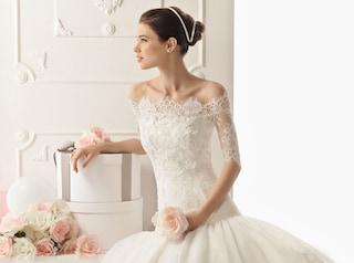Abiti da sposa in pizzo per un matrimonio romantico