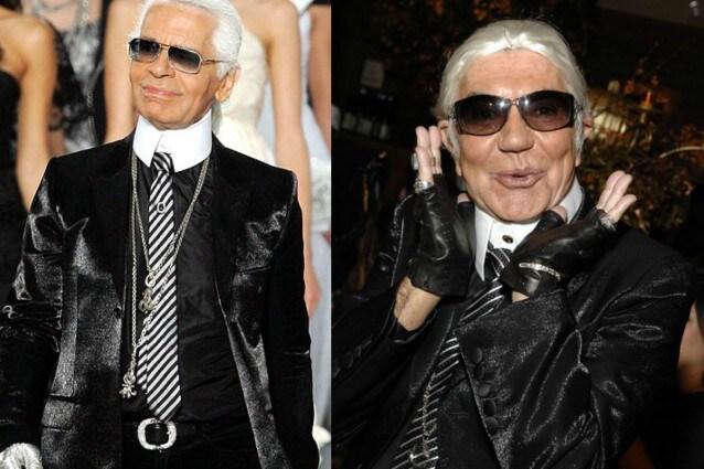 Roberto Cavalli contro Karl Lagerfeld Ha un look ridicolo