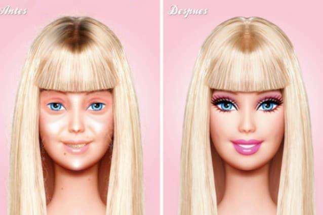 Barbie senza trucco? Ecco come sarebbe