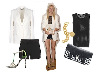 Gwyneth Paltrow, copia il look in black&white della star