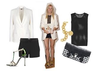 Gwyneth Paltrow, copia il look in black&white della star