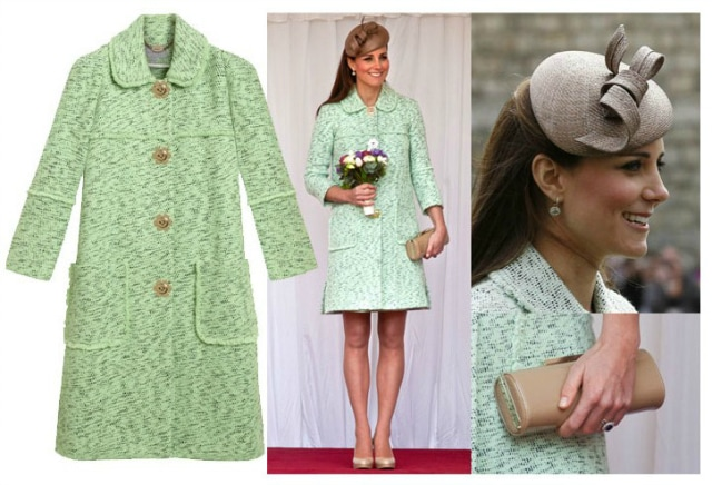 il cappotto verde di kate middleton