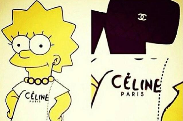 Lisa Simpson in versione fashion a spasso con una Chanel