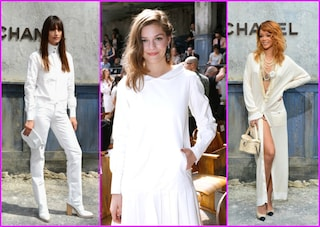 """Le star """"vanno in bianco"""" alle sfilate di Parigi (FOTO)"""