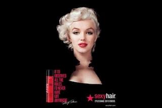 Marilyn Monroe, il mito immortale scelto da Sexy hair per la nuova campagna