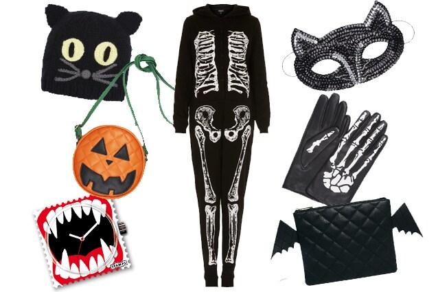 Cappello, maschera, guanti e borse Asos, tuta Topshop, orologio S.T.A.M.P.S
