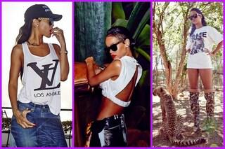 "I sexy look ""safari"" di Rihanna in Africa (FOTO)"