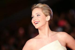 """Il look di Jennifer Lawrence per la prima a Roma di """"Hunger Games: la ragazza di fuoco"""""""