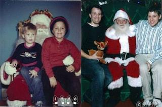 Due fratelli per 33 anni si fotografano con Babbo Natale