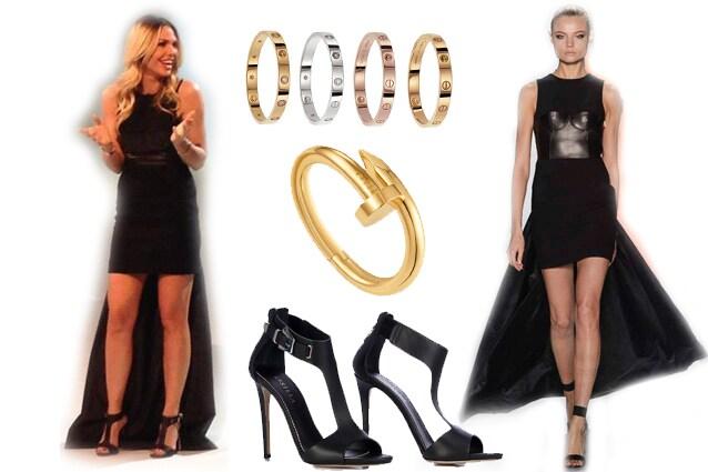 Ilary abbina al vestito total black un paio di sandali con T bar firmati Le  Silla 669a285d7a3