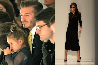 David Beckham e prole in prima fila per applaudire mamma Victoria (VIDEO)