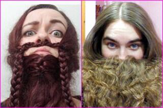 """La """"donna barbuta"""" è virale: la nuova mania è coprirsi il viso con i capelli (FOTO)"""
