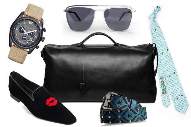Borsone Ermanno Scervino, orologio Emporio Armani, slippers Alberto Moretti, sunglasses CoSTUME NATIONAL, cintura Just Cavalli