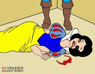 Biancaneve e Cenerentola vittime di violenze domestiche, la provocazione per l'8 marzo
