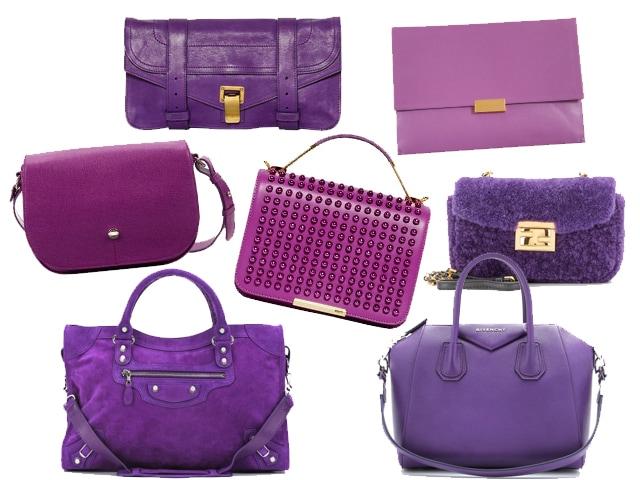 In alto: clutch Proenza Schouler e Stella McCartney, al centro medium bag Furla, Emilio Pucci, Fendi, in basso shopping bag Balenciaga e Givenchy