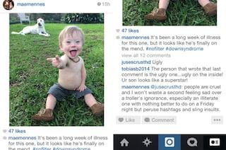 Insultano suo figlio down sui social: una madre risponde con tutto il suo amore