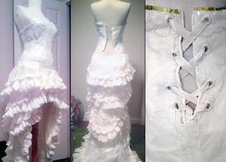 L'abito da sposa fatto di carta igienica (FOTO)