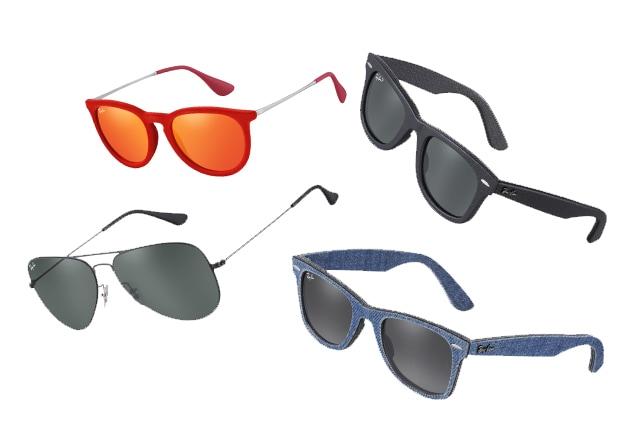 rivenditore online e8992 29911 Ray-Ban, i nuovi occhiali per l'estate in pelle, denim e velluto ...