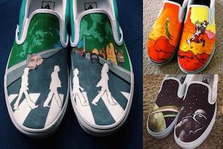 Le scarpe più originali, dipinte a mano con i Beatles e altre icone pop (FOTO)