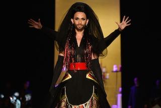 Conchita Wurst, modella con la barba per Jean Paul Gaultier (FOTO)
