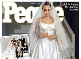Versace firma l'abito da sposa di Angelina Jolie per il matrimonio (FOTO)