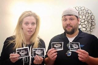 L'esilarante reazione di una coppia quando scopre di aspettare 4 gemelli (FOTO)