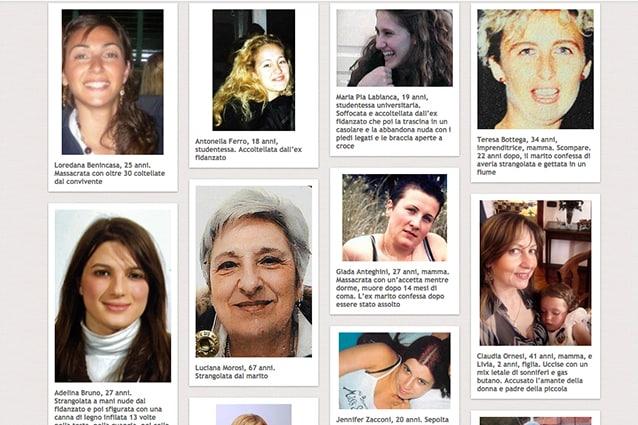 Il wall di In quanto donna. Scrollando la pagina verso il basso vengono caricate automaticamente nuove storie.