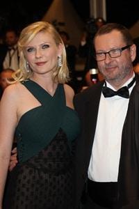 Kristen Dunst con Lars Von Trier