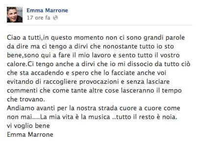 emma marrone su facebook