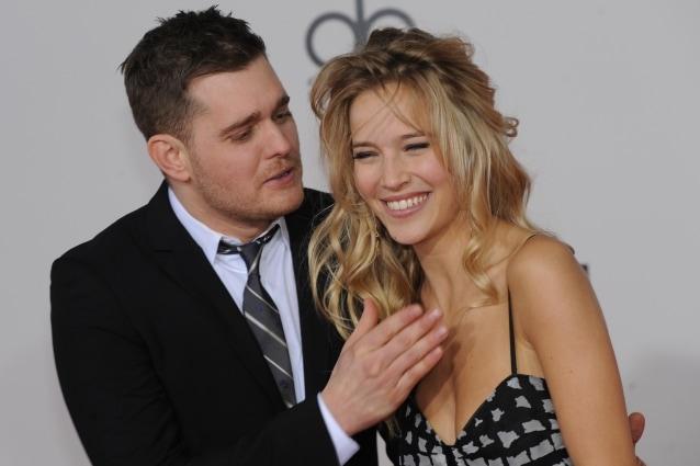 Michael Buble e Luisana Lopilato in attesa del primo figlio