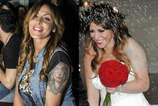 Guendalina Tavassi si sposa e copre il tatuaggio, ma il fondotinta non basta
