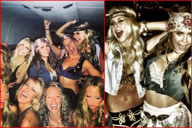 Julianne Hough, Nina Dobrev e amiche, raggiungono Selena, vestite in stile gypsy