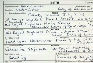 """L'atto di nascita del Royal Baby: """"Sua Altezza Reale Principe George Alexander Louis"""""""