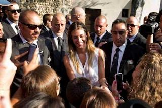 Belén Rodriguez arriva al suo matrimonio (FOTO)
