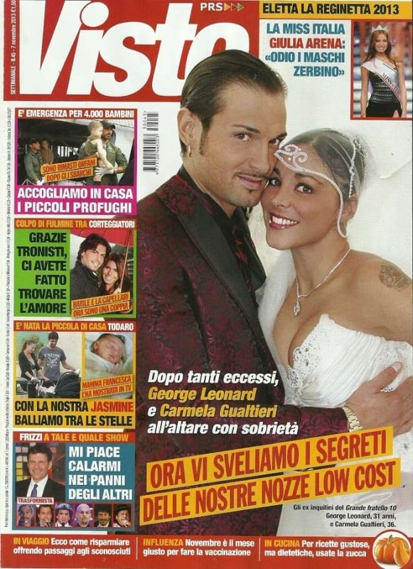 George Leonard e Carmela Gualtieri in copertina
