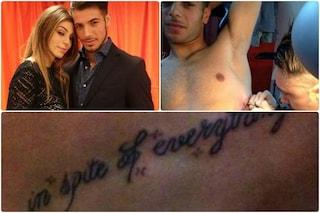 """Aldo Palmeri dedica un tatuaggio ad Alessia: """"Mi hai macchiato il cuore"""""""