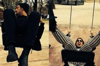 Cecilia Rodriguez e Francesco Monte si divertono sull'altalena (FOTO)