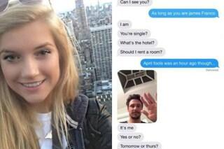 James Franco flirta con una minorenne e la conversazione finisce in rete (FOTO)