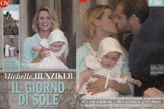 """Michelle Hunziker e Trussardi battezzano Sole, le foto sono su """"Chi"""""""
