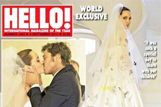 Ecco il vestito da sposa di Angelina Jolie, lo hanno disegnato i suoi figli