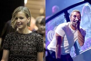 Jennifer Lawrence e Chris Martin insieme, lei era dietro le quinte del suo concerto